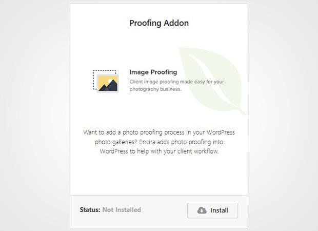 Proofing Addon