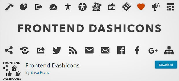 Frontend Dashicons