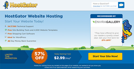 hostgator coupon