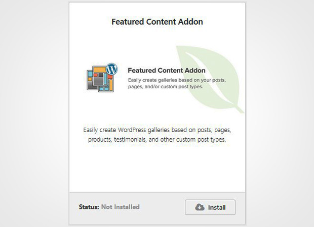 Featured Content Addon