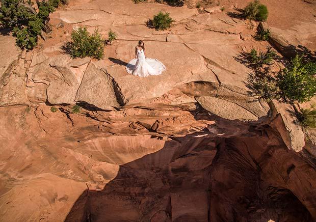 Bride Solo Aerial
