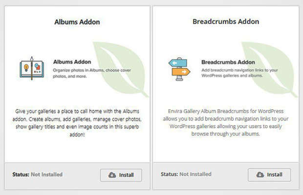 Breadcrumbs and Albums Addon