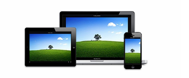 A full-size image shown on a laptop, a tablet, and a phone