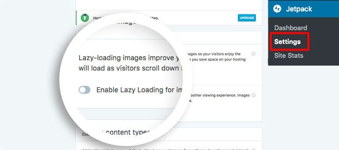 Disable the JetPack Lazy Loading for images