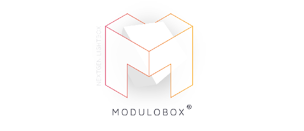 The Modulobox icon, featuring a large, boxy letter M