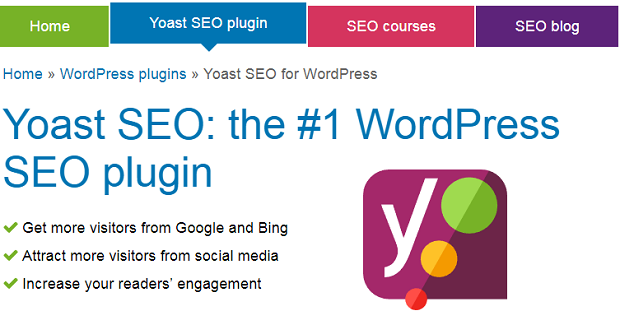 Yoast SEO plugin banner, with the signature Y on a purple background