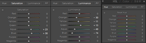 Lightroom's HSL panel, one of the best color adjustment tools in photo editing