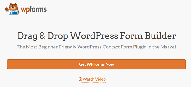The WPForms drag-and-drop form builder homepage