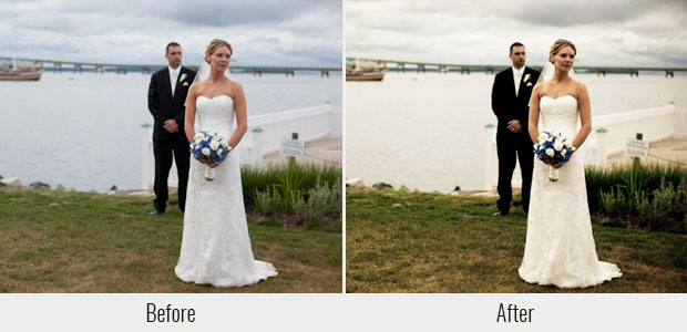 A before and after example of the Mad Dash Lightroom preset