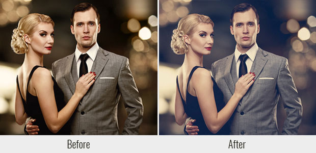 A before and after example of the Soft Wash Film Lead Lightroom preset