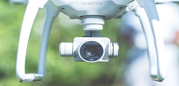 A close-up of the lens of a phantom drone