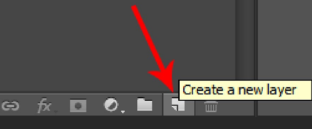 The Photoshop UI, with the Create a new layer button highlighted
