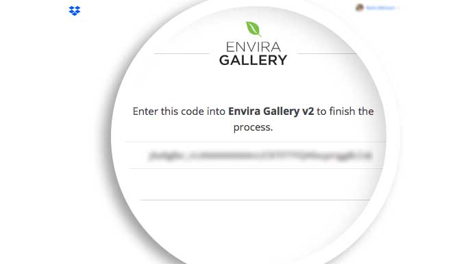 Copy the code for the Dropbox Importer Addon to give Envira the correct permission