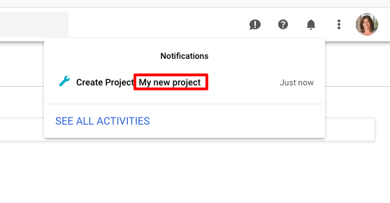 Click the project name to edit the project