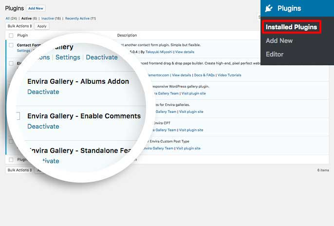 Activate the custom plugin to enable comments for standalone links