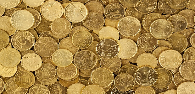 A large pile of shiny gold coins