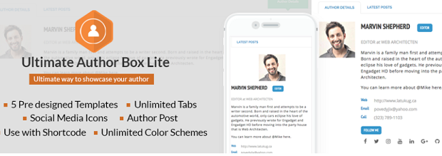 12 Best WordPress Author Bio Box Plugins