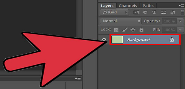 The background layer in Photoshop