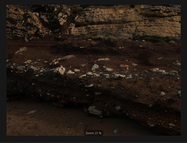 Underexposed landscape image