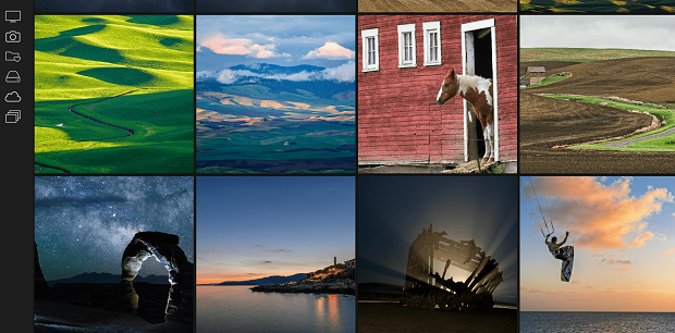 A set of landscape shots with different lighting effects and filters