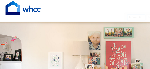 WHCC's homepage, with baby photos along a bedroom wall