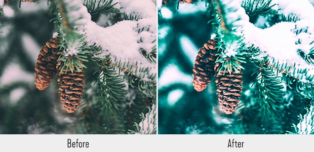 121 Presets para Lightroom, Navidad preajuste lightroom