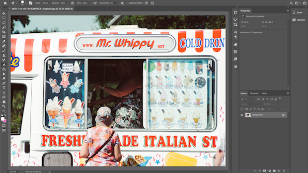 Image in Photoshop workspace