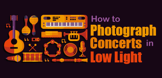how to photograph concerts in low light