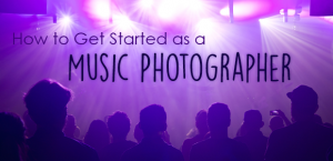 how to get started as a music photographer