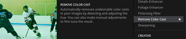 Remove color case in Luminar