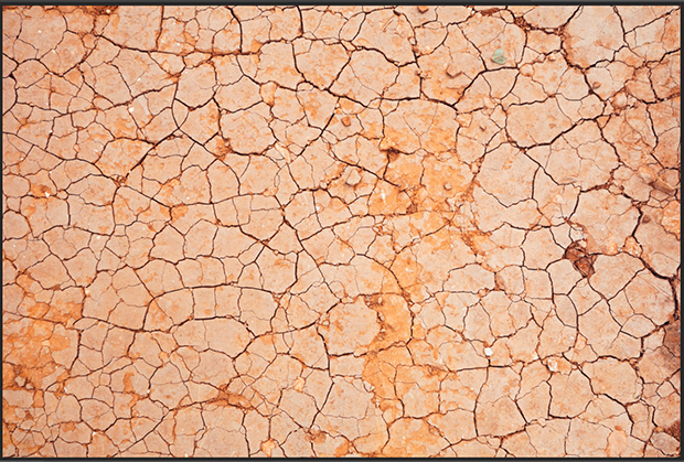 Cracked, dry dirt texture