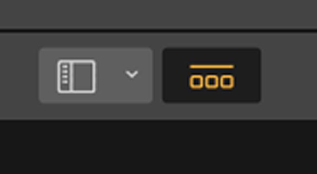 Filmstrip button in Luminar