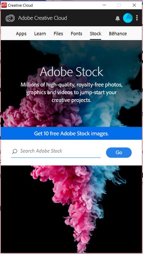 Adobe Creative Cloud download screen