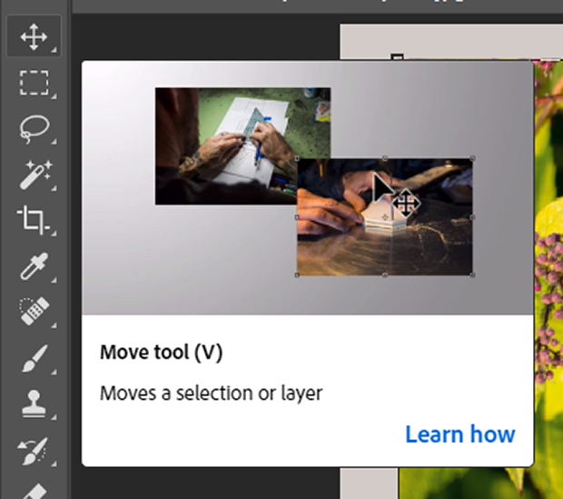Move Tool hover screen