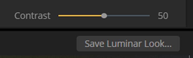 Contrast slider in Luminar