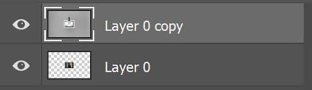 Two unlocked layers in Photoshop's Layers Panel