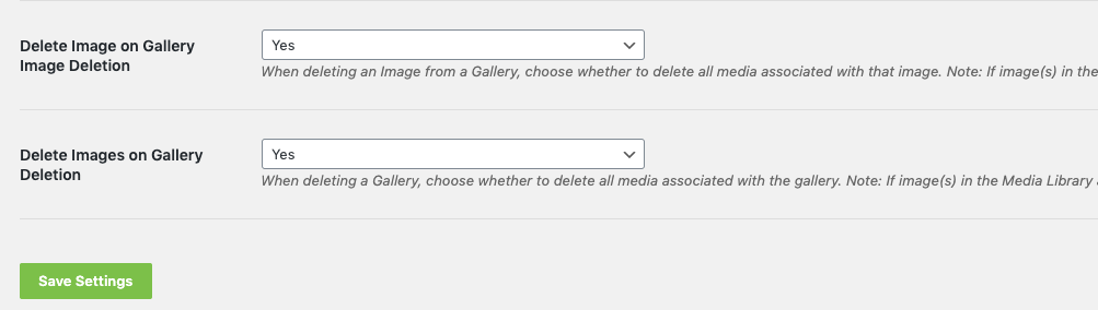 Envira allows you to automatically delete images from your Media Library when you delete images from a gallery.