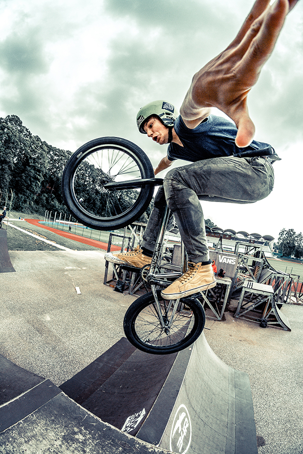 BMX biker sports photography