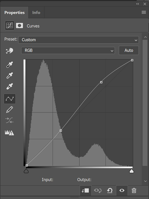 Photoshop's Curves adjustment panel