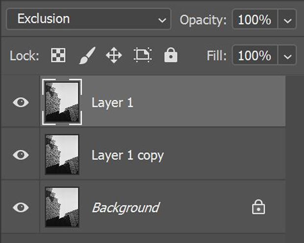Photoshop sharpened layers in Layers Panel