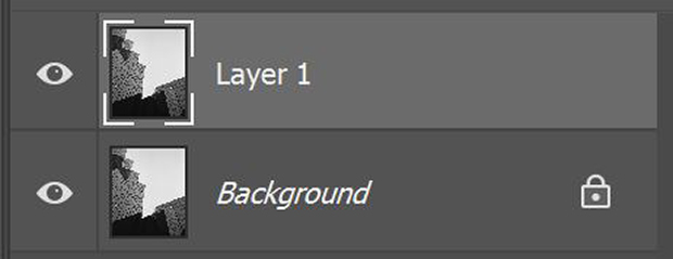 Duplicate layer in Photoshop