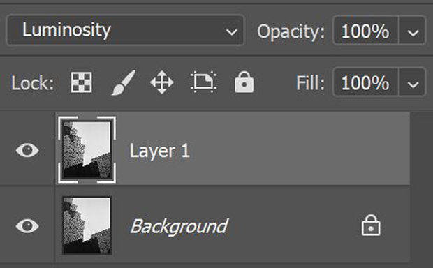 Luminosity blending mode in Photoshop