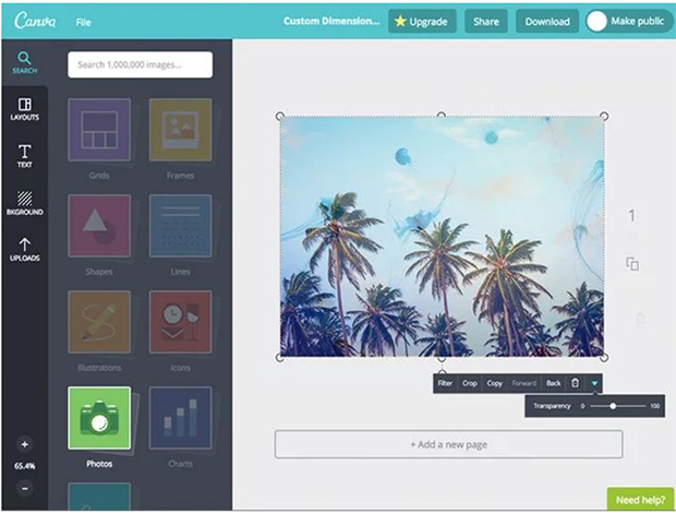 best free photo editing software canva