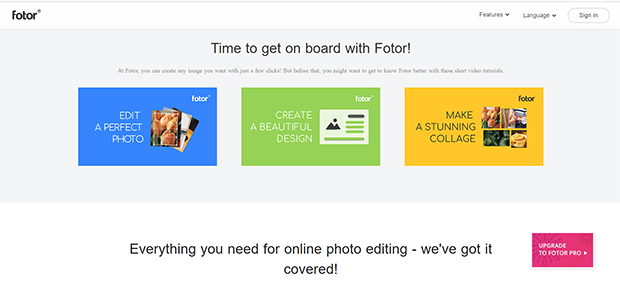 best free photo editing software fotor