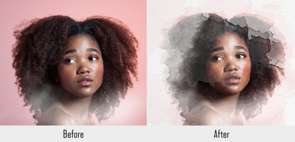 how to make a photo look like a watercolor painting in photoshop