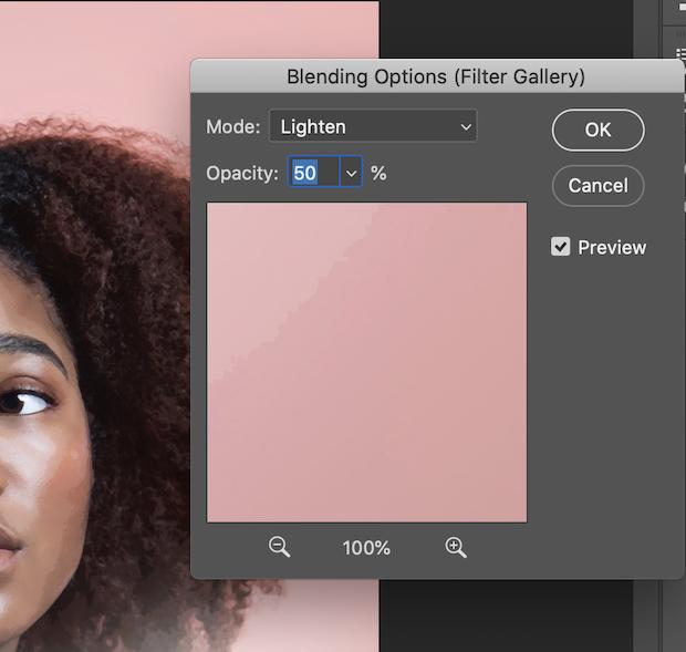 lighten blending mode photoshop