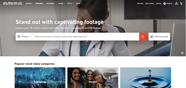 best stock photo and video sites shutterstock