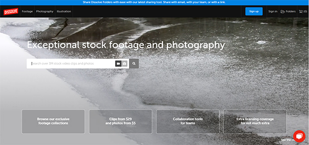 best stock photo and video sites dissolve
