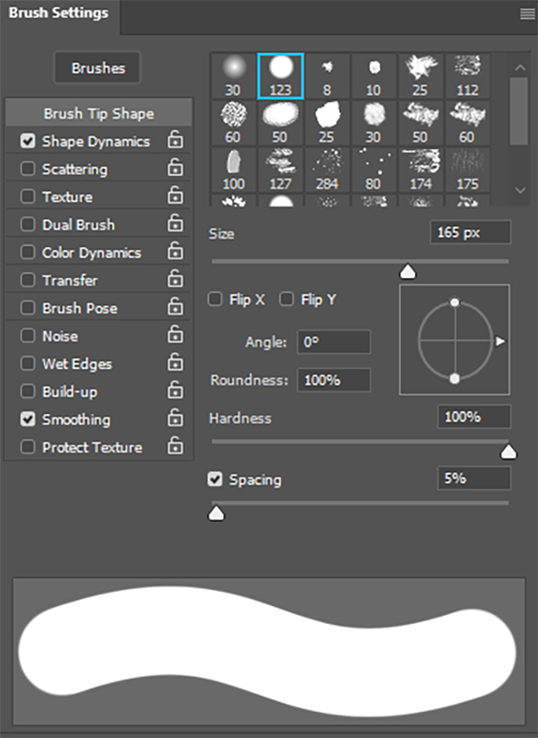 how to use the photoshop brush tool brush settings