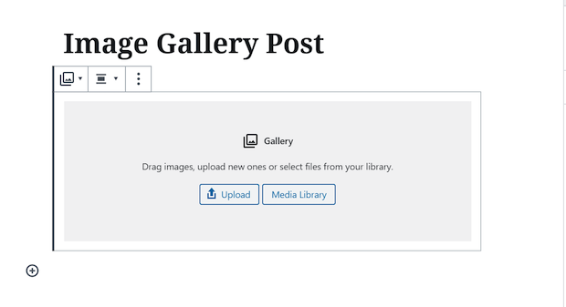 How to Create a Gallery Using the Gutenberg Content Editor upload images